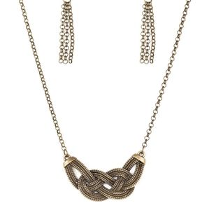 Paparazzi Nautically Naples Brass Necklace Set